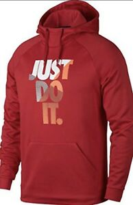 Nike-Mens-Therma-Just-Do-It-Pull-Over-Hoodie-Red-905667-657-Size-XL-NWT