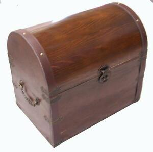 Superbe Image Is Loading LARGE WOODEN TREASURE CHEST STORAGE BOX Novelty Old