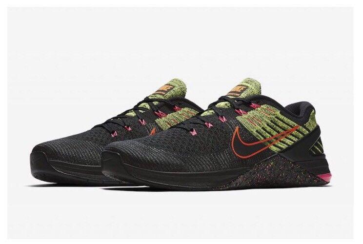 Nike Nike Nike Metcon Dsx Flyknit Herren Sz-10.5 Schwarz   Racer Rosa   Volt 01f389