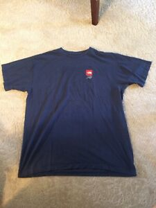 The-North-Face-Men-039-s-Size-Large-Navy-Logo-Short-Sleeve-Cotton-T-Shirt