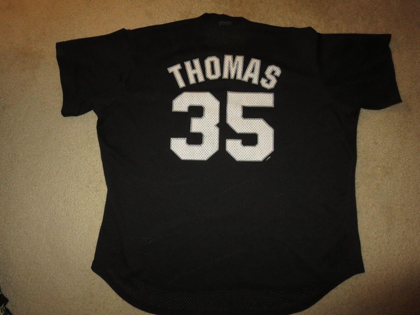 Frank Thomas 2005 Chicago Weißes Sox Schwarz MLB Trikot 2XL Herren