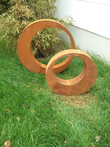 Edelrost,Gartenskulptur Gartenstecker,Gartendeko,rostoptik Glück Symbol 2 st