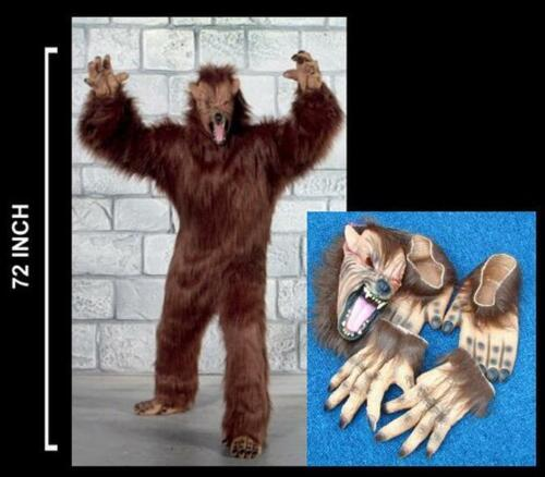 PLUSH WEREWOLF ADULT COSTUME halloween suit wolf scary wolves pro dressup NEW