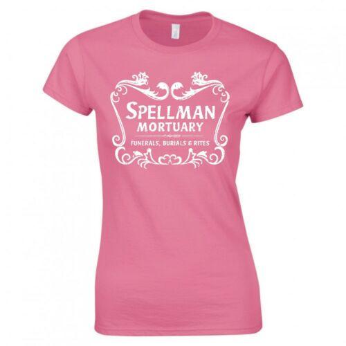 "Inspiré par Sabrina Chilling Adventures /""Spellman MORTUAIRES/"" Skinny Fit T-Shirt"