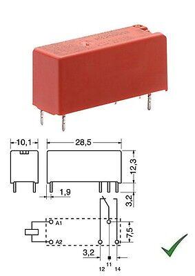 Relè relay di potenza 12V 12Vcc 14A circuito stampato pcb 1 scambio FTRH1CA012V