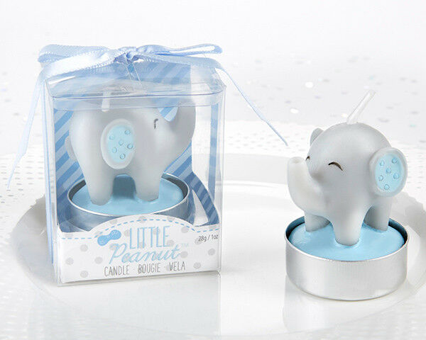 Little Peanut Elephant Boy Baby Shower Birthday Party Tea Light Candle Favor