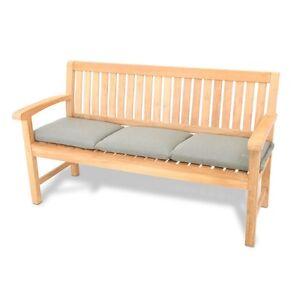 gartenbank auflage bank kissen 3 sitzer 150 x 45 cm taupe grau perleffekt ebay. Black Bedroom Furniture Sets. Home Design Ideas