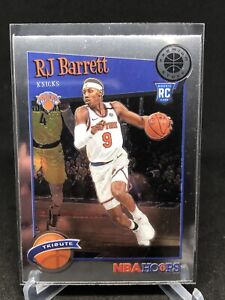 2019-20 Panini NBA Hoops Premium Stock RJ Barrett Tribute Rookie #298 Knicks RC