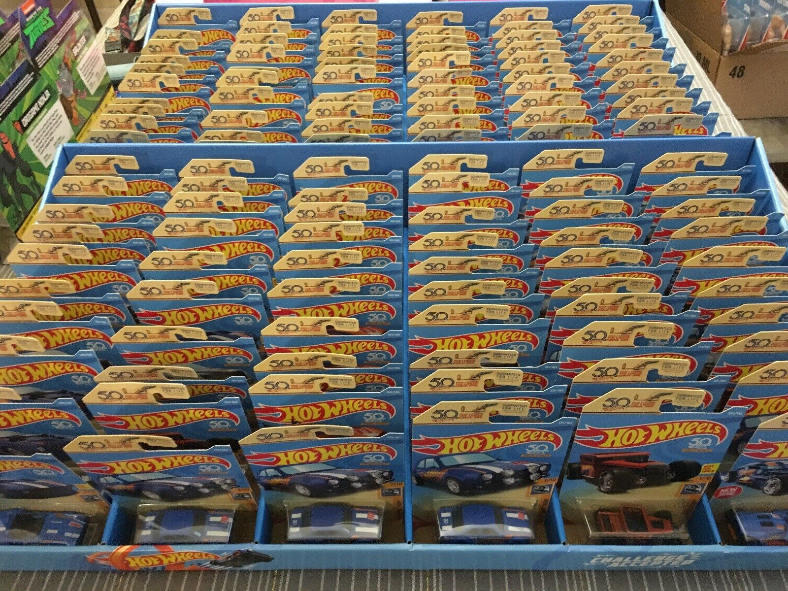 Hot Wheels 50th Anniversary Collector Display Case 60 Count Assorted
