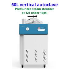 Sh Scientific 60l Vertical Autoclave Pressurized Steam Sterilizer 12115psi