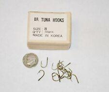 New Box 100 Bronze Tuna Fish Hooks Size 8 Hook Korea