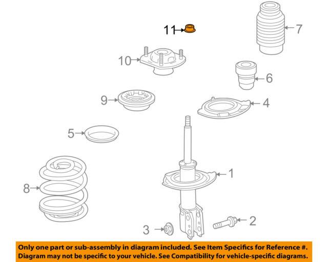 GM OEM Front Suspension-Strut Nut 11561429
