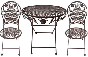 Das Bild Wird Geladen Bistro Set Balkon Set Eisen Gartenmoebel Set Antik