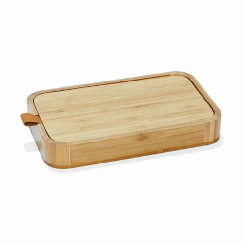 Details about  /Bamboo Storage Jewellery Box Lid Accessories Mirror 4 Sections Organizer F1