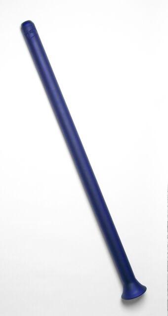 Handmade Glass Didgeridoo - D#(432Hz) - Cobalt Blue Sandcarved