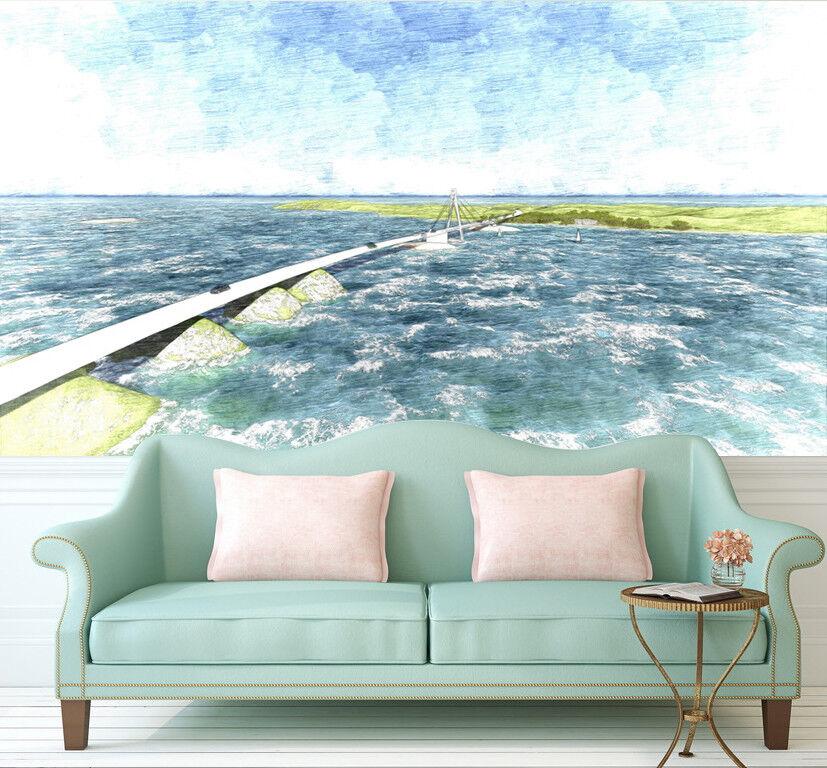 3D Natürliches Meer Malerei 976 Tapete Wandgemälde Tapeten Bild Familie DE Lemon