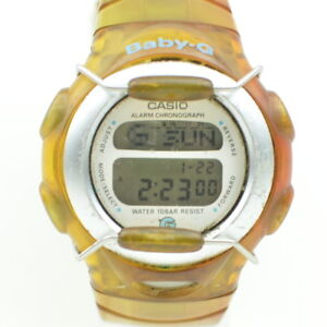 Vintage-Casio-Baby-G-Alarm-Chrono-Watch-Running-Band-Damaged-BG-380-56-3-B573