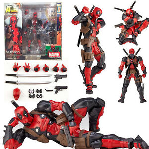 Marvel-Legends-X-men-No-001-DEADPOOL-Action-Figure-Amazing-Revoltech-Kaiyodo-Toy