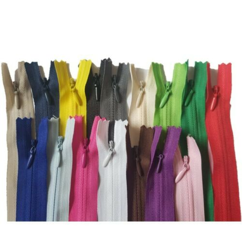 zippers Material SIZE 28 40 45 50 60 cm ZIPS Invisible Concealed Zip
