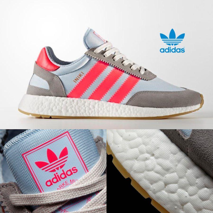 Adidas Originals INIKI Runner Cipők Athletic Futás Szürke Rózsaszín BB2098 SZ 4-13