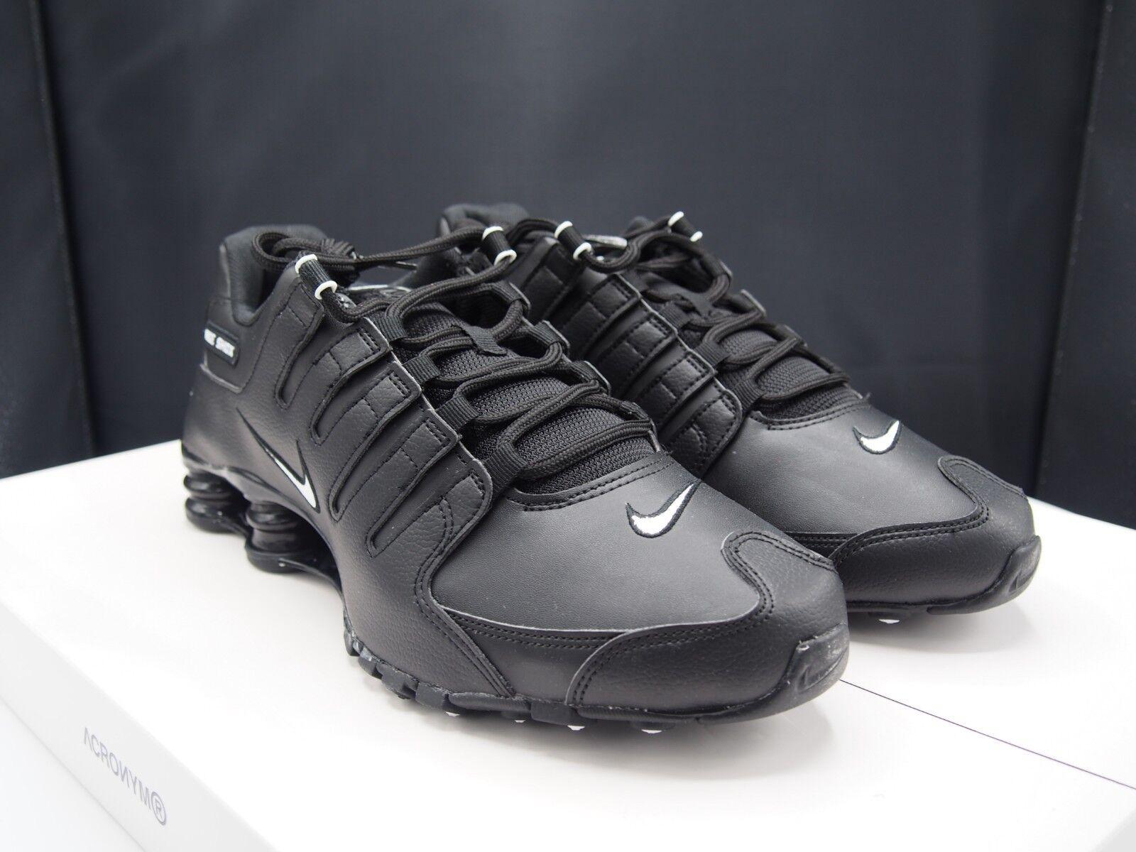 Nike Shox NZ EU Triple Black 501524-091 Men's size 10 US