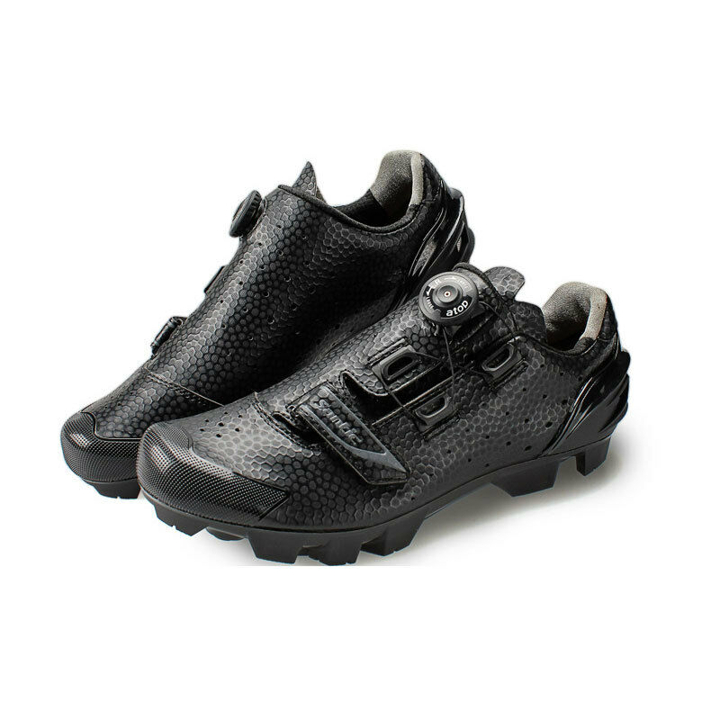 Santic MTB  redating Button Cycling Bike shoes For Eggbeater Shimano SPD System