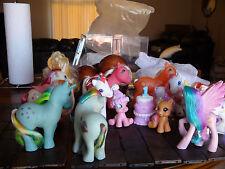 Vintage Retired My Little Pony Lot G1 G3 Basic Applejack Accessories Cake Skirt