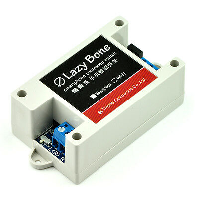 Smartphone/cell phone controlled wireless relay switch Lazy Bone (Android/WiFi)