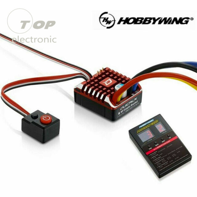 Hobbywing QUICRUN WP-1080 Waterproof Brushed 80A ESC with Program Card Set