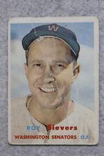 1957 Topps #89 Roy Sievers Washington Senators Baseball Card