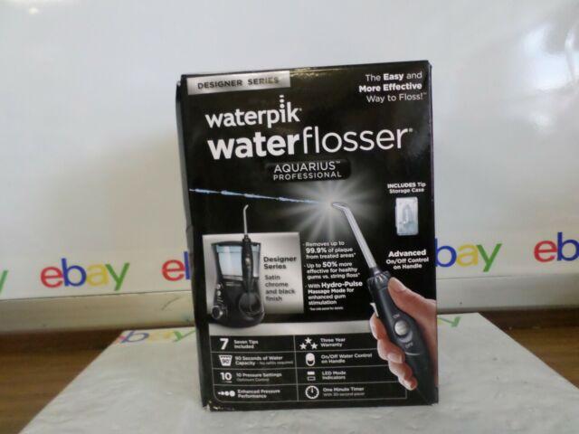 Waterpik Wp-672c Aquarius Professional Water Flosser DESIGNER Series Black