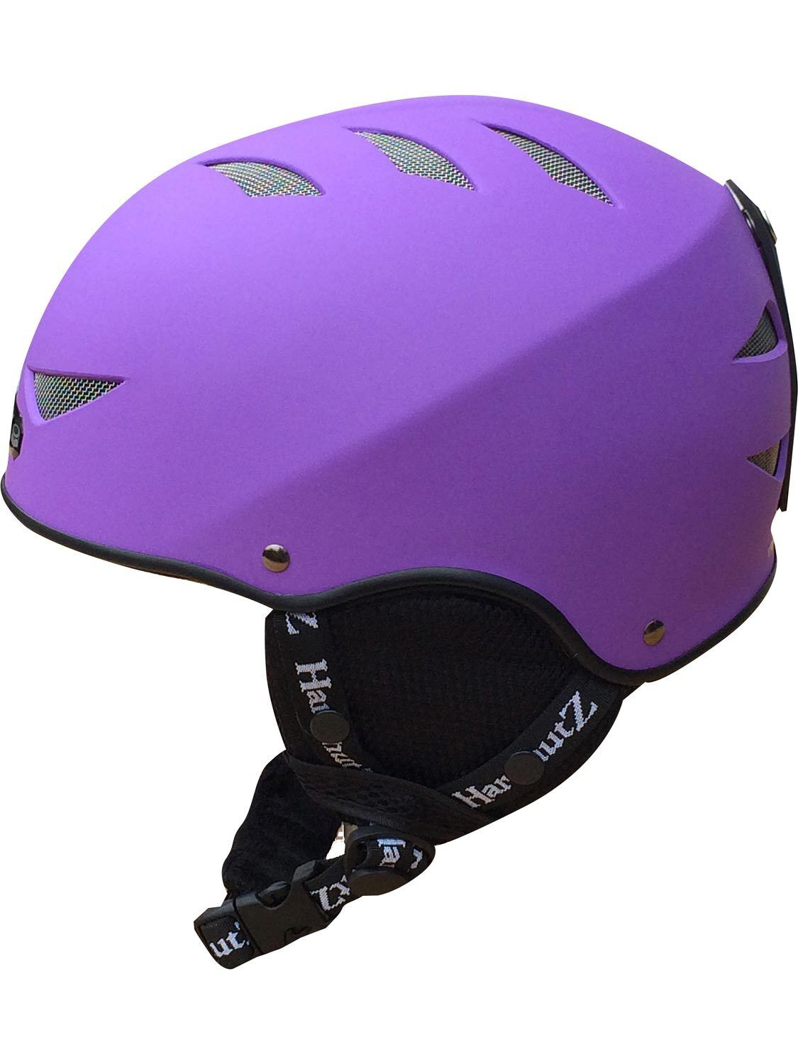 Hardnutz Ski Helmet Purple Adult & Kids Sizes Rubber Ski Helmet Snowboard New