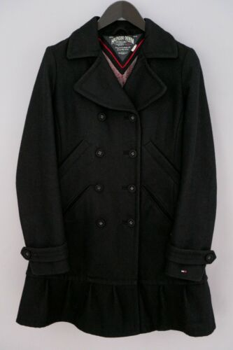 Women Tommy Hilfiger Denim Coat Double Breasted Bu