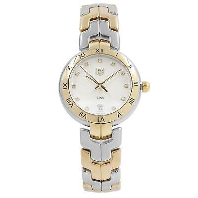 TAG Heuer Link Steel 18k Gold Diamond Silver Dial Quartz Watch WAT1350.BB0957  | eBay