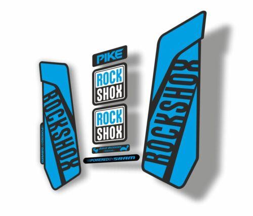 Rock Shox Pike 2016 Mountain Bike Cycling Decal Kit Sticker Adhesive Blue