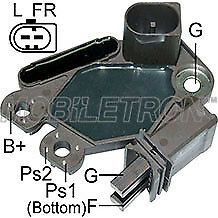 12 V alternateur régulateur de tension /& Brush Box Vag Vw Mercedes Siège Mob VR-PR2292H