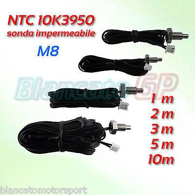 SONDA WATERPROOF NTC 10K 3950 M8 acciaio inox A2 termistore sensor  thermistor