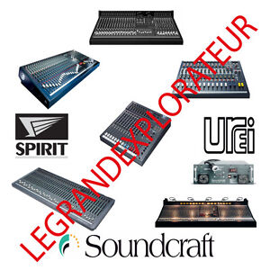 Details about Ultimate Soundcraft Owner Repair Service manual & Schematics  270 Manuals on DVD