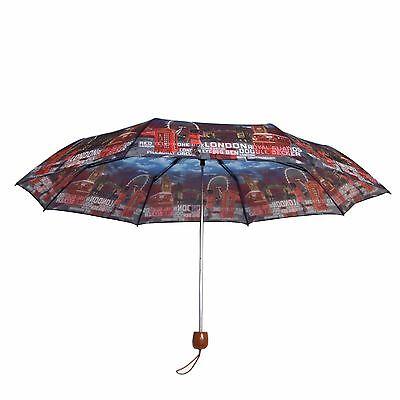 alta qualità idrorepellente London Collage Ombrello per Regno Unito Pioggia Meteo