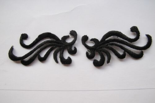 #3736  Gold,Black Trim Fringe Flower Embroidery Iron On Applique Patch