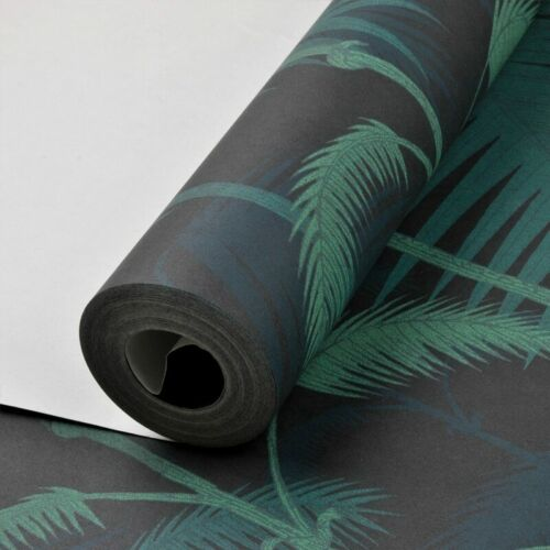 Jungles Palm Tree Leaves Woods Wallpaper Roll Floral Forest Non-woven Wall Paper