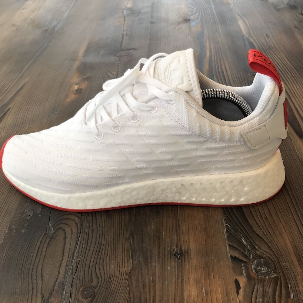 New in Box Adidas NMD R2 White Core Red Mens Size 11 US / 10.5 UK Style #BA7253