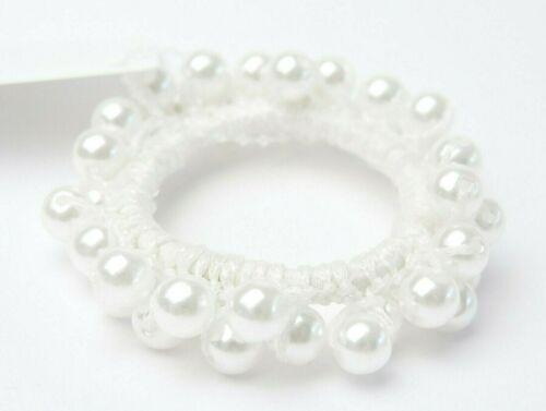 schönes elastisches Haargummi Haarbinder Zopfgummi Haarband mit Perlen
