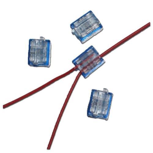 12 Mini Abzweigverbinder blau 0,1 bis 0,9 mm² Stromdieb Abzweigverbinder Telefon