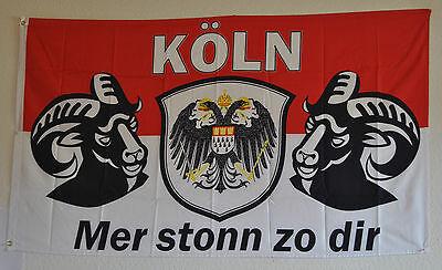 Fahne Flagge 3913 KÖln Meine Stadt Mer Stonn Zo Dir Neu