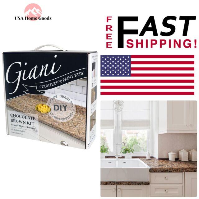 Giani Granite Countertop Paint Kit, Chocolate Brown