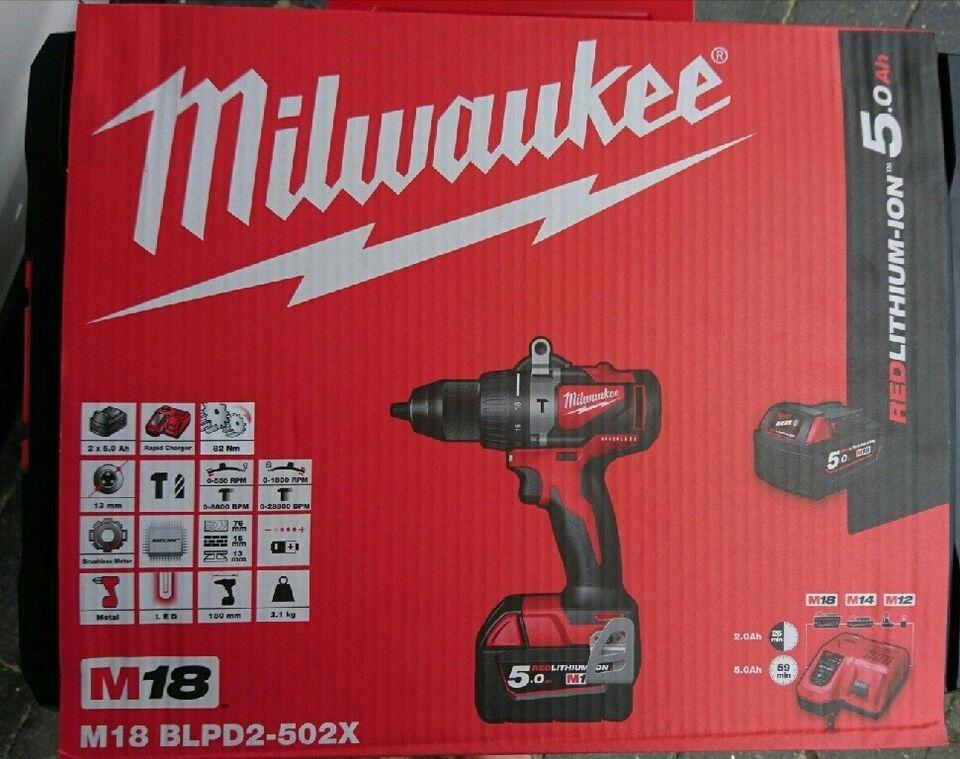 Slagboremaskine, Milwaukee M18 BLPD2-502X