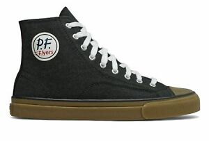 PF-Flyers-All-American-Hi-Unisex-Shoes-Black-with-Tan-Size