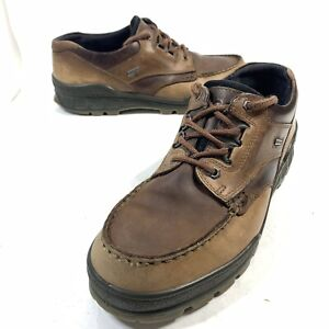 ECCO Track Shoes Mens Size EU 45 / US 11-11.5 Leather Gore-Tex Browns No Insoles