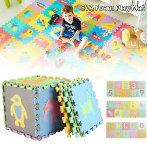 10X Soft Eva Foam Floor Baby Kids Play Mat Gym Alphabet  Numbers ETC Puzzle Mats